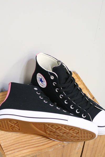 CONS CTAS Pro Hi Top (Black/Pink Glow)