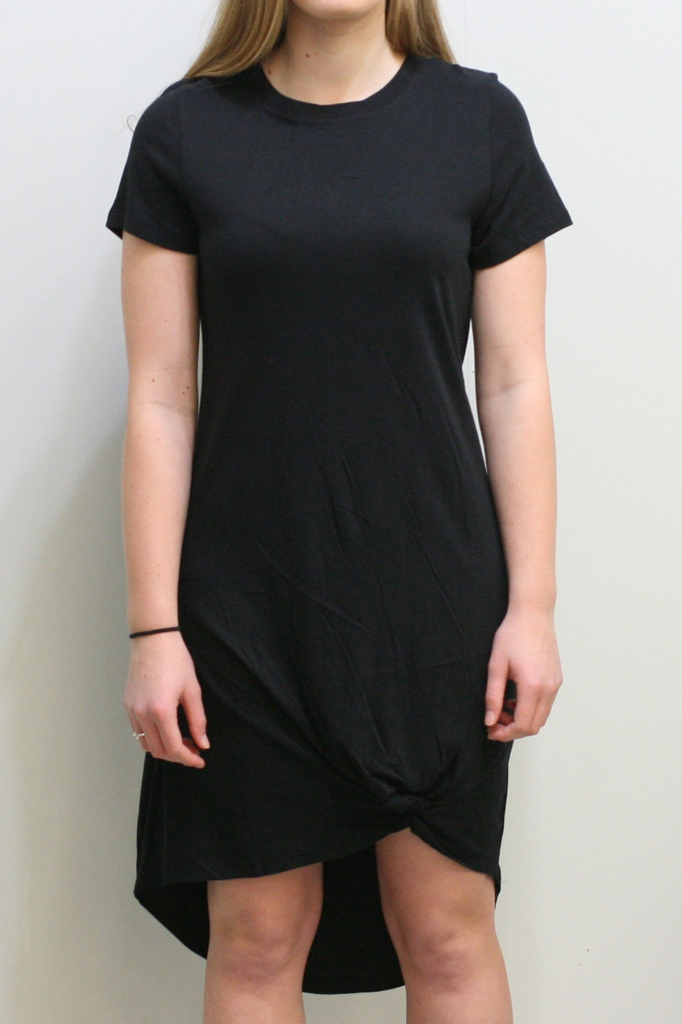 Twisted Tee Dress (Black)