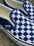 Vans Classic Slip-On (Checkerboard) Estate Blue