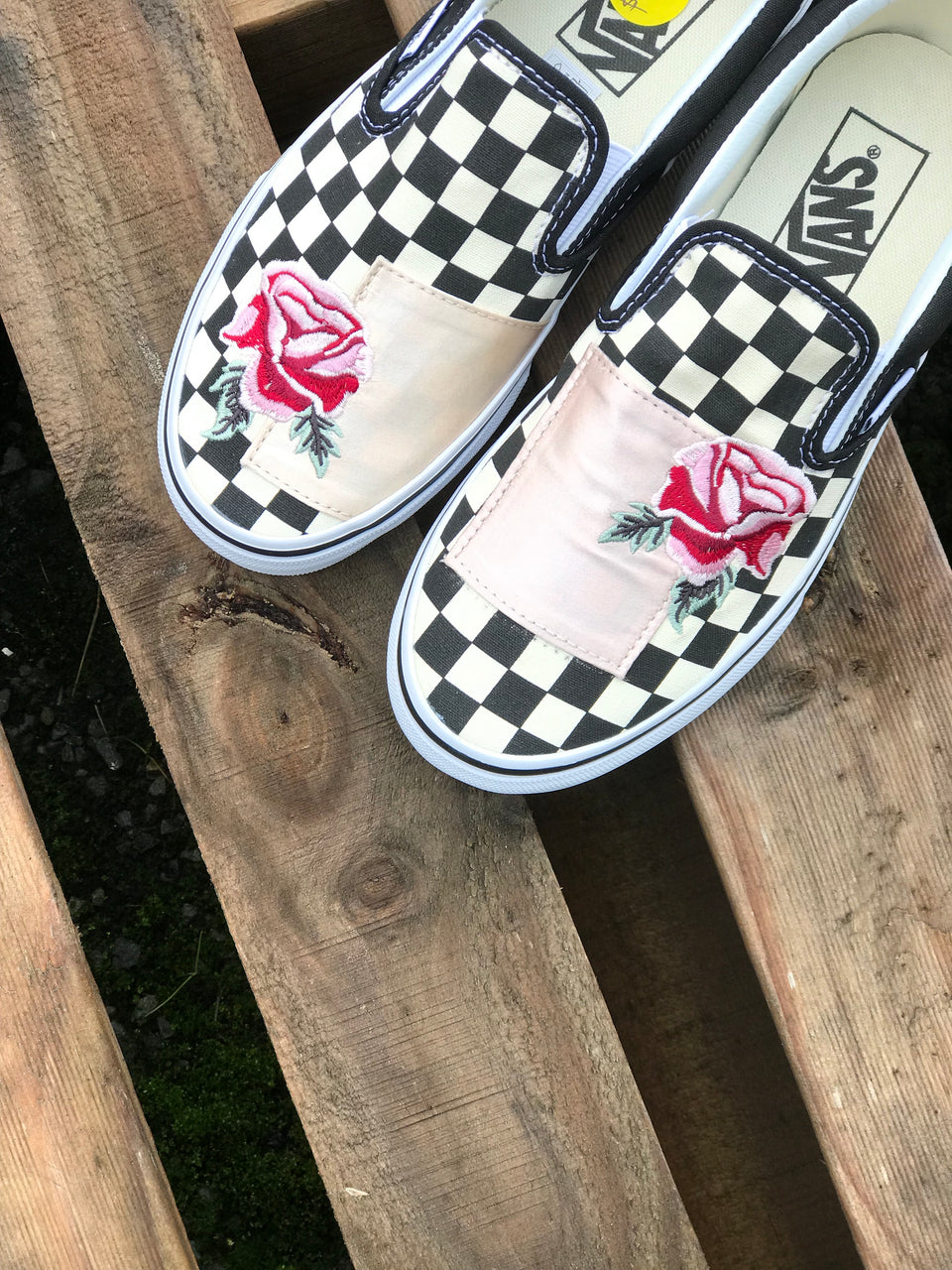 Vans Classic Slip-On (Satin Patchwork) Checker