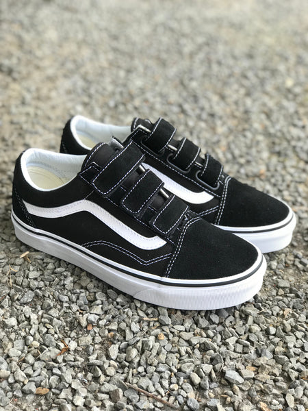 Vans Old Skool Velcro (Suede/Canvas) Black/White