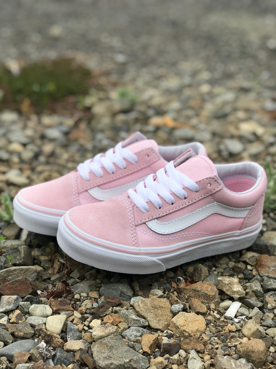 Vans YOUTH Old Skool (Suede/Canvas) Chalk Pink