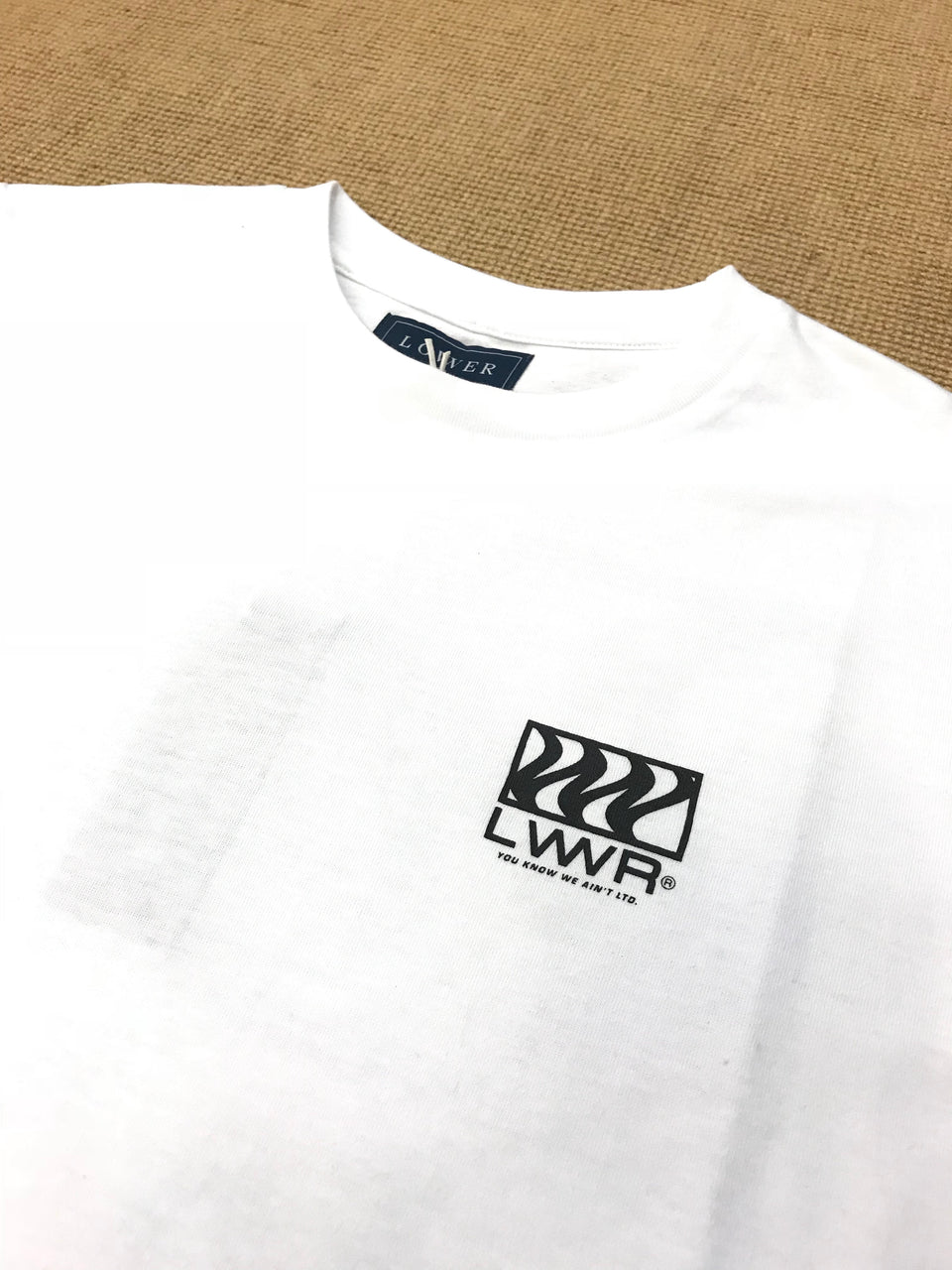 Lower Mens QRS Tee - Waverunner (White)