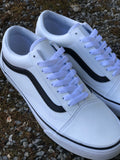 Vans Old Skool (Classic Tumble) White/Black Leather