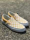 Vans Classic Slip-On (Checkerboard) Ochre/True White