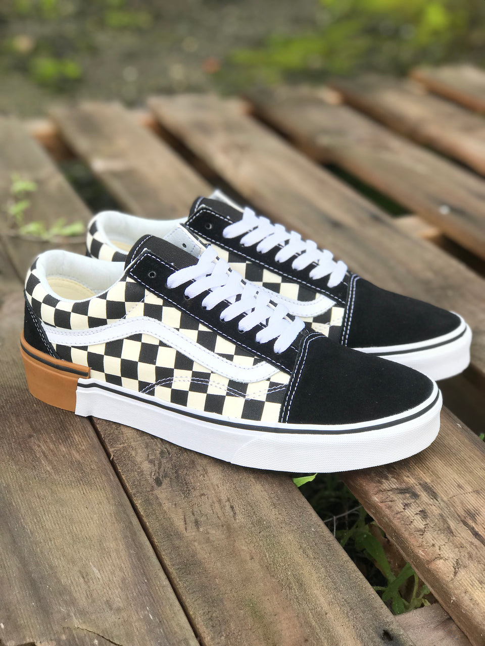 Vans Old Skool (Gum Block) Checkerboard