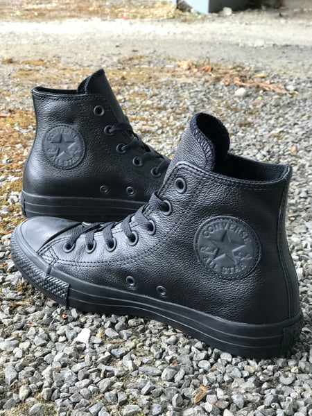 Chuck Black Mono Leather Hi