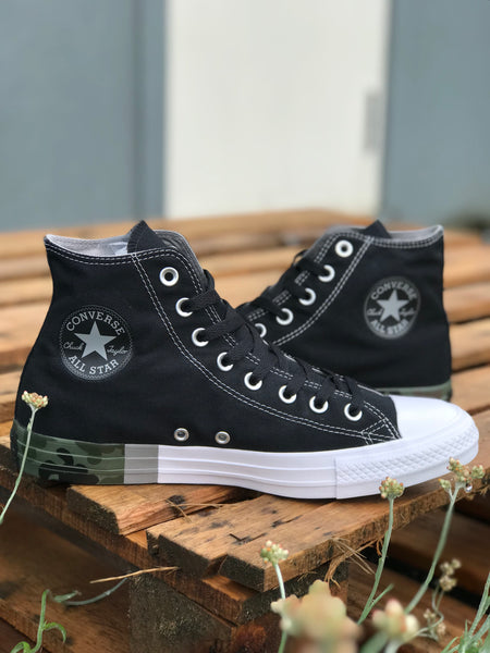 Chuck Taylor Tri-Colour (Black/Dolphin/White) Camo