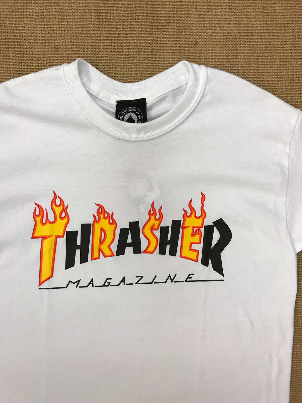 Thrasher Flame Mag Tee (White)