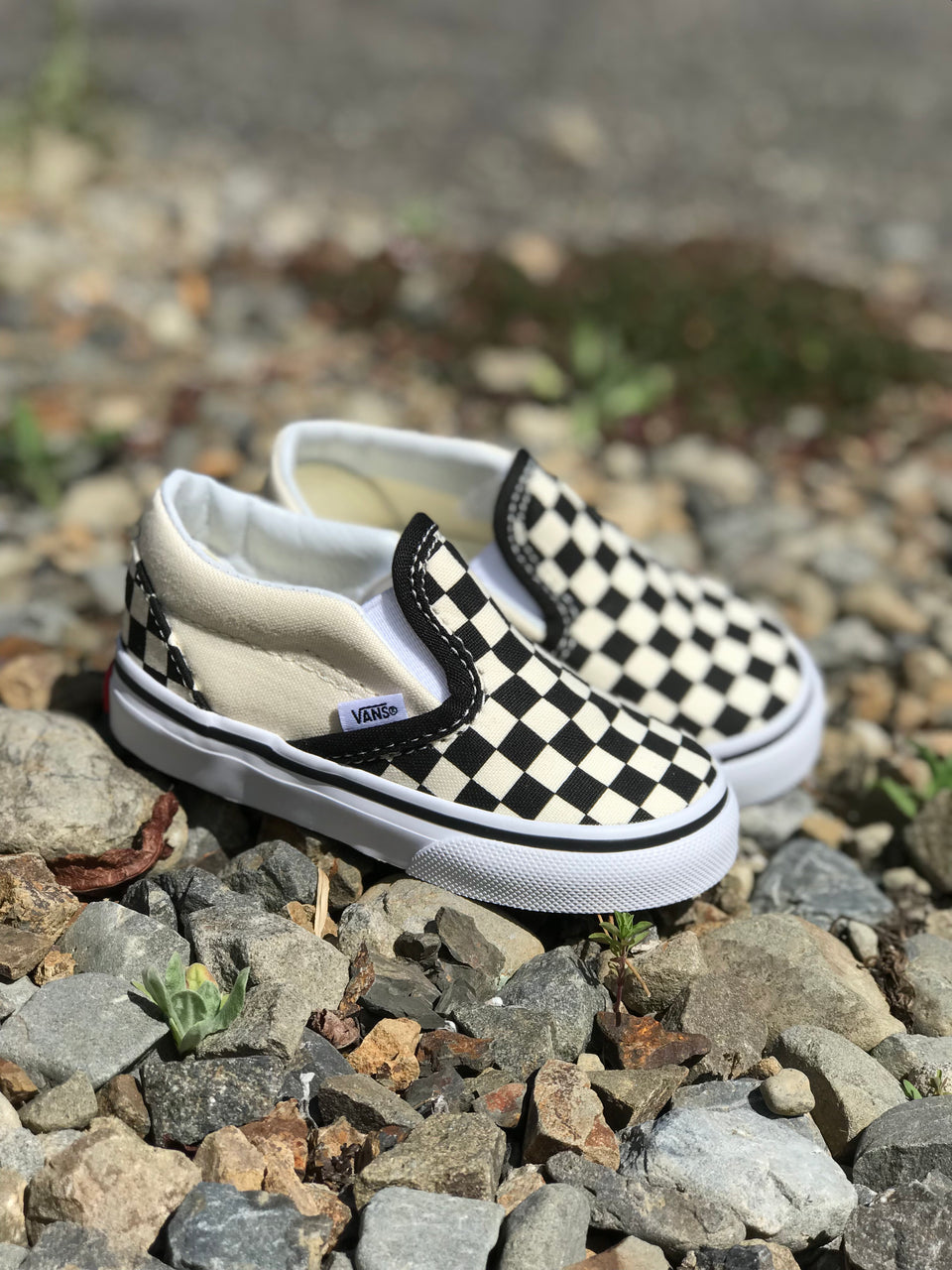 Vans TODDLERS Classic Slip-On (Black/White/Checkerboard)