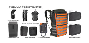 Modular waterproof backpacks