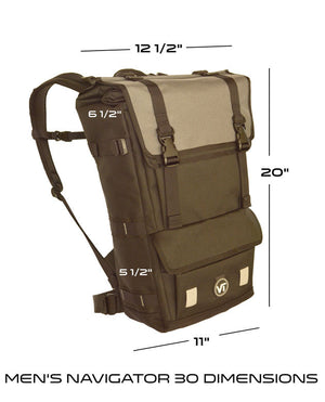 Waterproof backpack Navigator 30 dimensions
