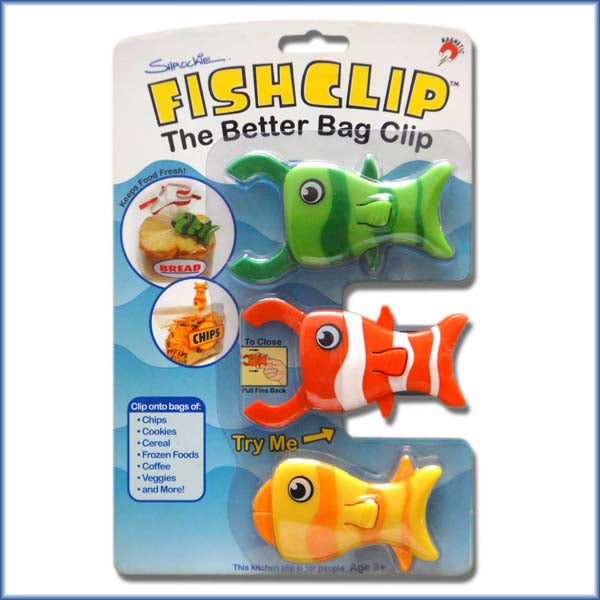3-Pack of FishClips®. Retail Version
