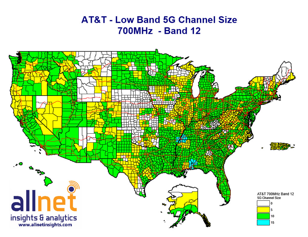 AT&T's Low Band 5G | 700MHz or Cellular – Allnet Insights