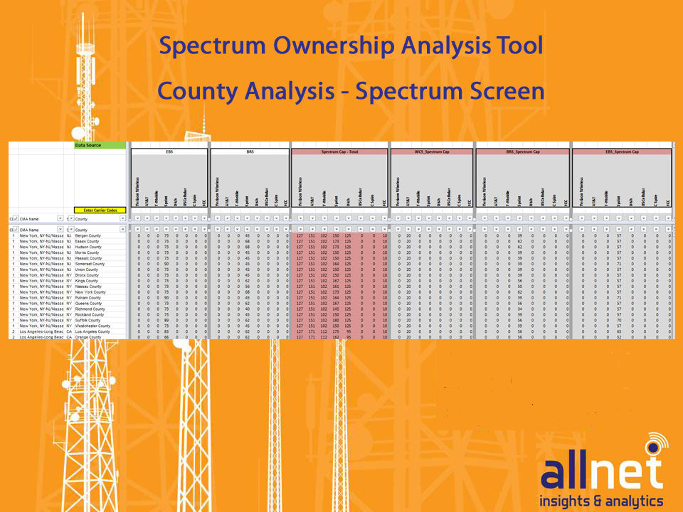 Mobile Carrier Spectrum Ownership Analysis Tool (USA