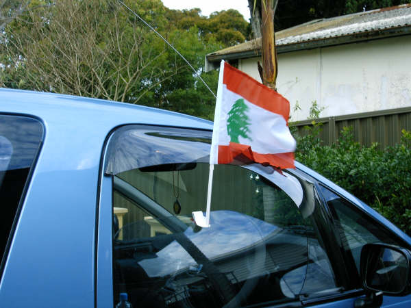 Lebanese Flag for Car Window