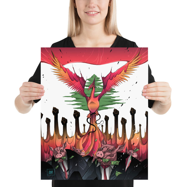 Lebanese Phoenix Poster - The961 Shop - Buy Lebanese