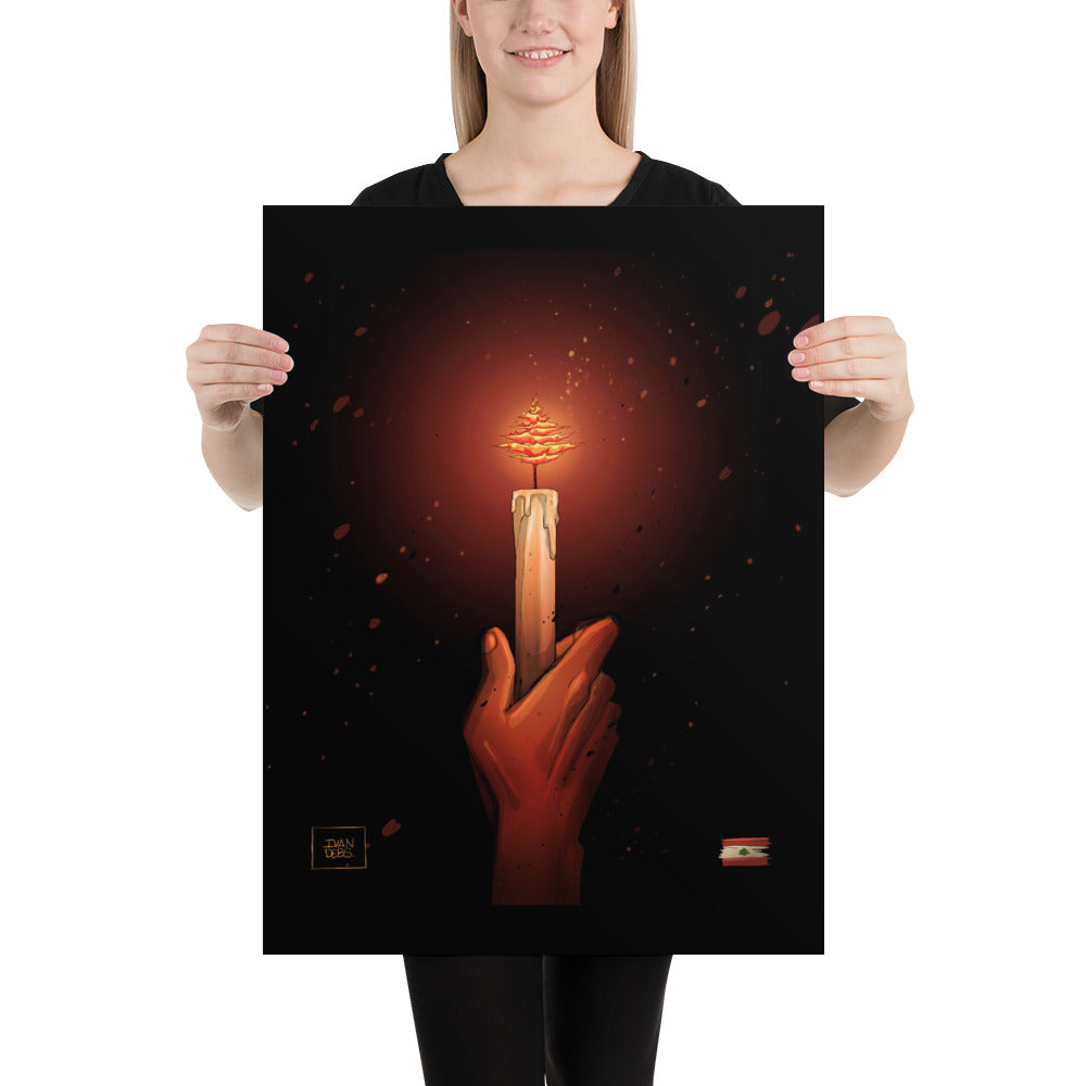 Burning Flame Poster - The961 Shop - Buy Lebanese