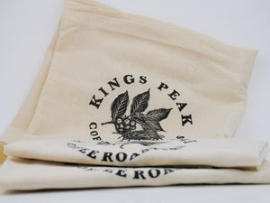 Kings Peak Coffee Roasters BEE LOGO Dish Towel