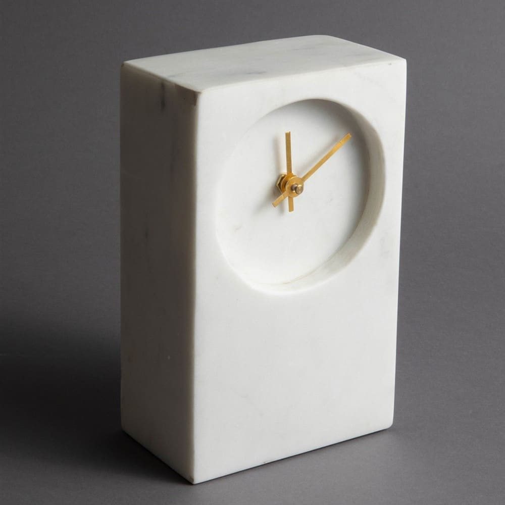 MARBLE TOWER TABLE CLOCK - IN STORE PICK UP ONLY!