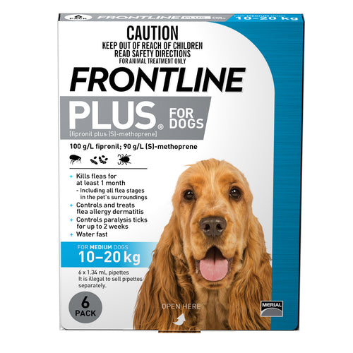 Frontline Plus For Dogs Medium 10-20kg 6 Pack