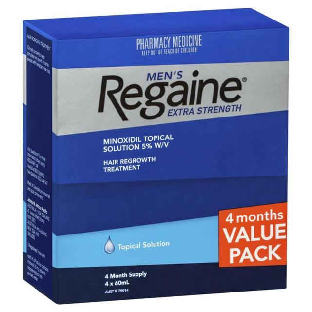 Regaine Men's Solution Extra Strength 4 Months for 3