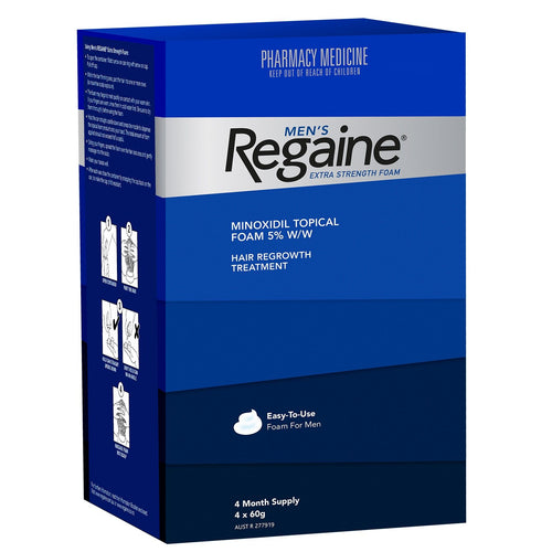 Regaine Men's Extra Strength Foam - 4 x 60g