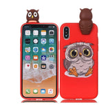 3D Cute Animals Cover iPhone Case