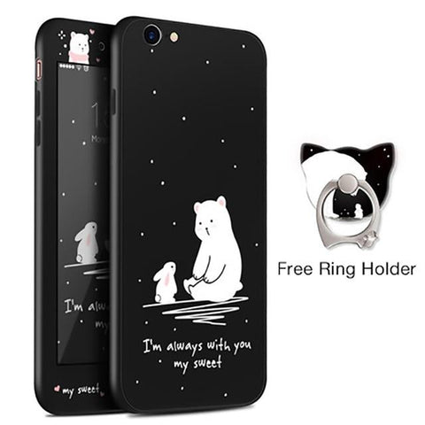 Always With You Bear Black iPhone Case
