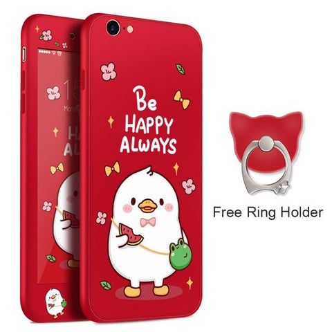 Be Happy Always Red iPhone Case