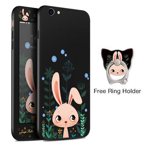 Forest Rabbit Black iPhone Case