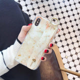 Glittering Marble iPhone Case For Girls