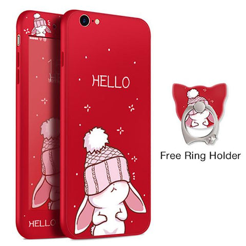 Hello Rabbit Red iPhone Case