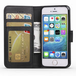 Leather Wallet Case For iPhone 5