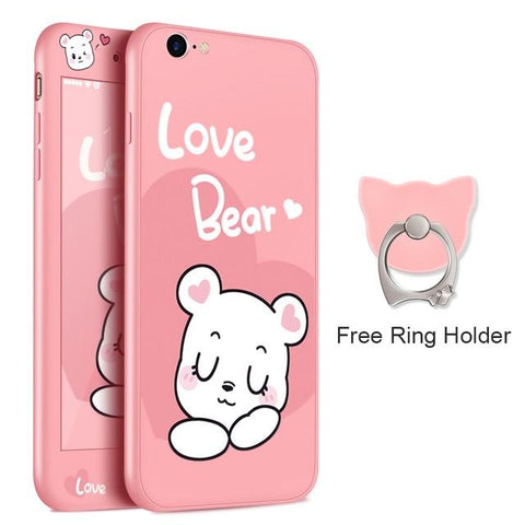 Love Bear Pink iPhone Case