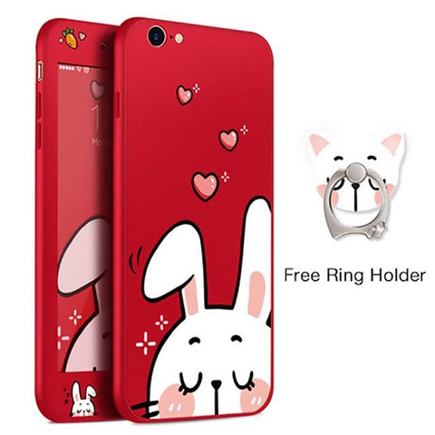 Loving Rabbit Red iPhone Case