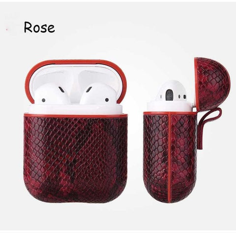 Rose Snake Skin AirPods Case