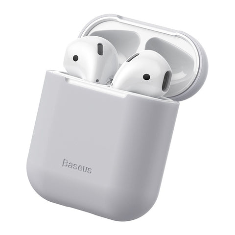Gray Airpods Case Silicone Cover
