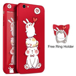 Rabbit Pyramid Red iPhone Case
