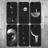 Space & Moon iPhone Case For Boys