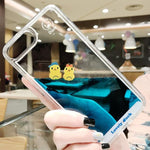 Swimming Duck Clear iPhone Case