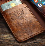 Vintage Flip Cover Leather iPhone Case