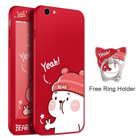 Yeah Bear Red iPhone Case
