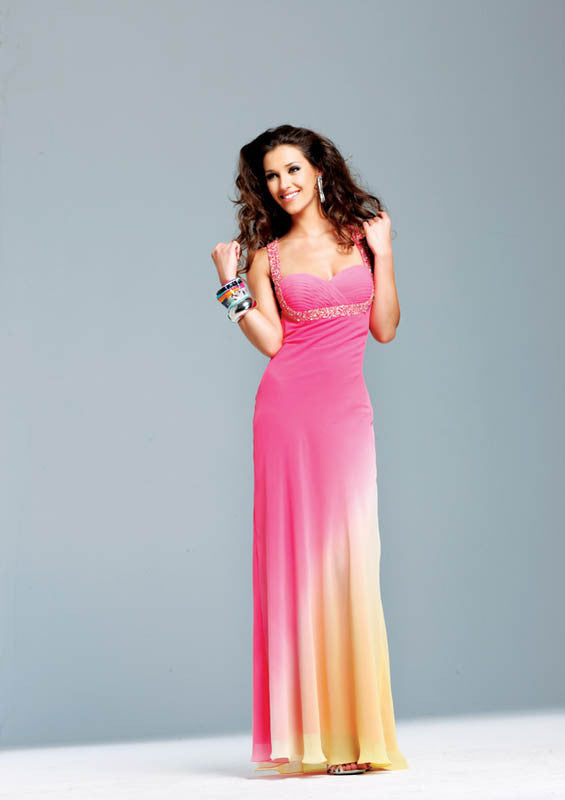 Faviana, 6552, 4, PINK/YEL, prom dress, calgary grad dress, edmonton grad dress