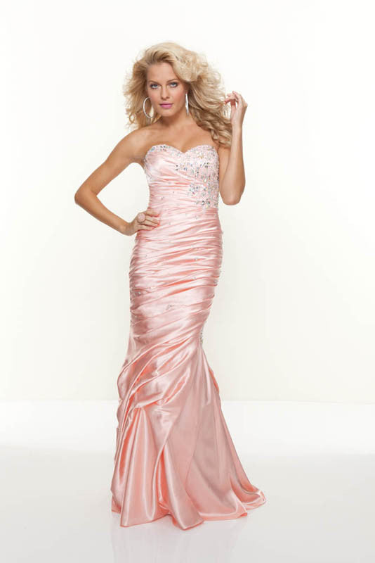 Mori Lee, 91022, 18, PEACH, prom dress, calgary grad dress, edmonton grad dress