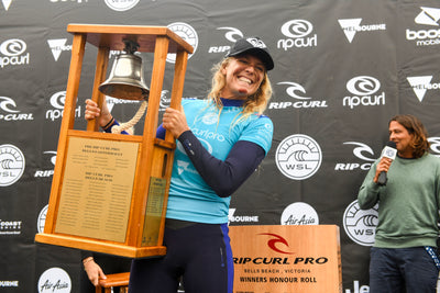 Stephanie Gilmore Rings Bell for a fourth time at Rip Curl Pro