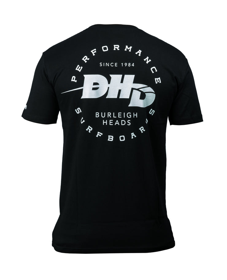 DHD Performance Surfboards T-shirt BLACK/White