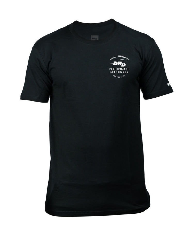 DHD Proudly Handcrafted Surfboards T-shirt BLACK/White