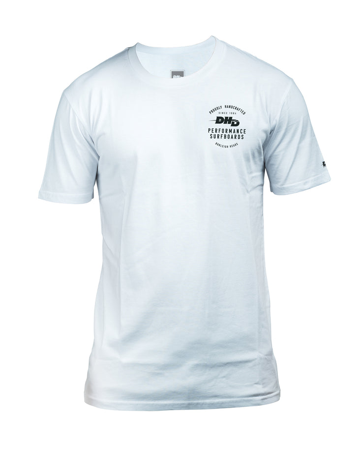DHD Proudly Handcrafted Surfboards T-shirt WHITE/Black