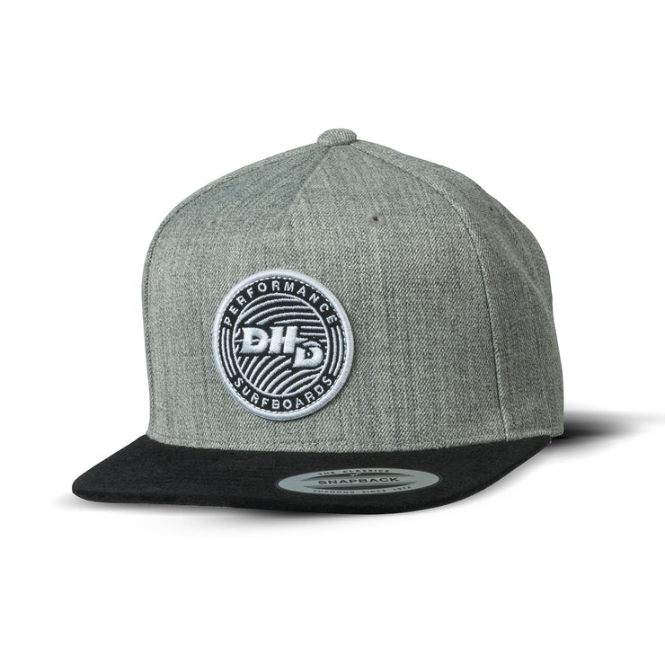 DHD premium Snapback - Pulse (Heather Grey/Black)